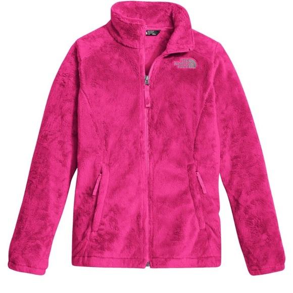North Face Hot Pink Osolita Fleece Jacket Size M